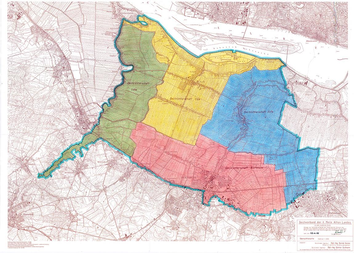 Der Deichverband der II. Meile ist zuständig für die Deichsicherheit im Alten Land an Elbe, Lühe/Aue und Este im Bereich zwischen Lühe/Aue und Hamburger Landesgrenze.
